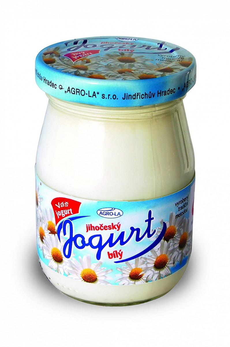 bily jogurt