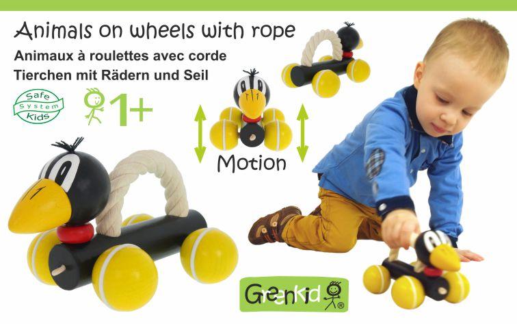 Dřevěné hračky jako šikovní asistenti pro trénink pohybových dovedností i rozvoj fantazie!
